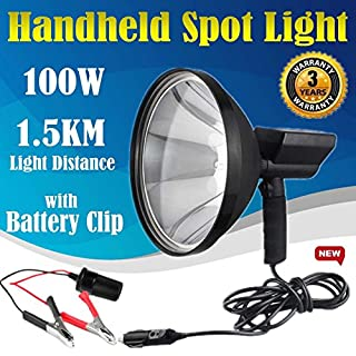 9 Inch 100W HID Lights Handheld Lamp Camping Hunting Fishing Super Power Bright Spotlights Long Distance