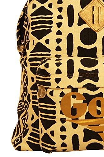 GOLA ZCUB470 GOLA HARLOW INCA ZAINO Donna NERO CREAM/BLACK/GOLD