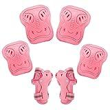 BROTOU Bambini Kit Protezione, ginocchiere, gomitiere e guanti in gel per bambini, per hoverboard, scooter, BMX e bicicletta (Rosa)