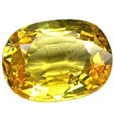 #2: AJ Retail Yellow Sapphire Pukhraj Natural Certified Loose Precious Gemstone 6.1 Carat