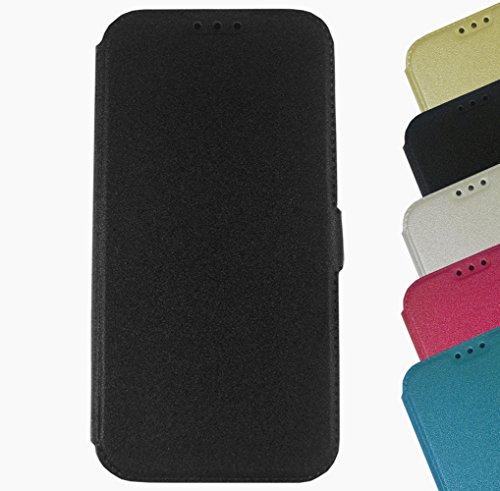 Für Nokia Lumia Touch Book Pocket Case Hülle Flip Cover Klapptasche Magnet Lumia 950 XL Schwarz Schwarz + Displayschutzfolie