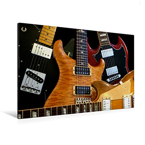 Calvendo Premium Textil-Leinwand 120 cm x 80 cm quer Legendäre Rockgitarren | Wandbild, Bild auf Keilrahmen, Fertigbild auf echter Leinwand, Leinwanddruck: E-Gitarren Kunst Kunst