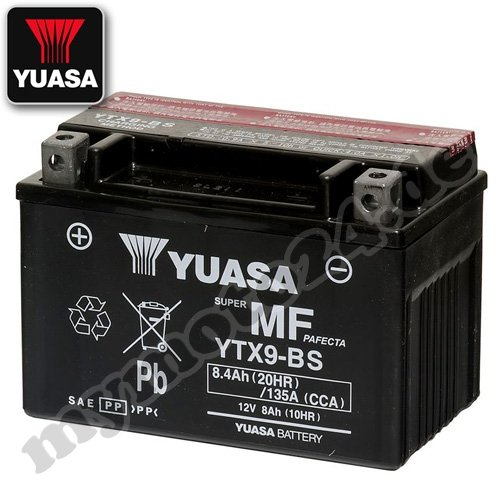 Preisvergleich Produktbild Batterie YUASA YTX9-BS,  12V / 8AH (Maße: 150x87x105)