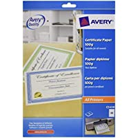 Avery Dennison Certificate Paper - Paquete de 10 plantillas para premios y certificados A4