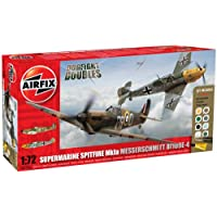 Airfix 1:72 A50135 Dogfight Doubles Spitfire Mk1a and Messerschmitt Bf109e-4 Military Aircraft Gift Set
