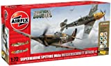 Airfix 1:72 Dogfight Doubles Spitfire Mk1a and Messerschmitt Bf109e-4 Military Aircraft Gift Set