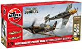 Picture Of Airfix 1:72 Dogfight Doubles Spitfire Mk1a and Messerschmitt Bf109e-4 Military Aircraft Gift Set