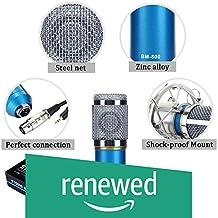 (Renewed) Generic Sound Studio Recording Dynamic Professional Condenser Microphone Set, Blue (Requires phantom power connection)