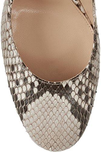 EDEFS - Scarpe col Tacco - Decolleté Chiuse Donna - Elegante Alto 10cm - Tacco a Blocco Snakeskin