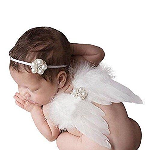 Lucky Will Baby Foto Fotografie Outfits Mädchen Kostüm Engelsflügel Stricken Flügel Häkelarbeit Kostüm für Kinder weiß