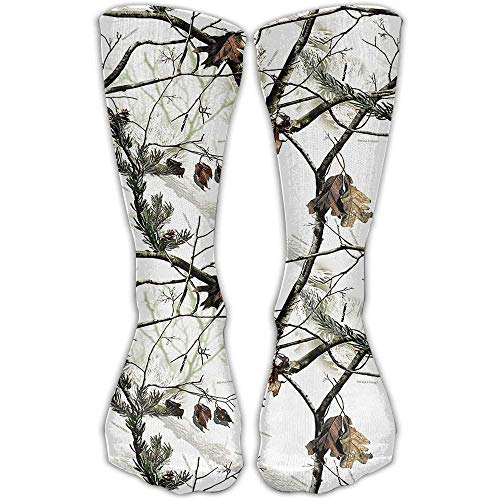 guolinadeou White Realtree Camo Casual Socks Crew Socks Ankle Socks Athletic Sock One Size Fits All Adult For Travel Sports 50cm -