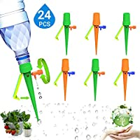 Plant Self Watering Spikes System, 24 PCS Automatic Plant Waterer With Slow Release Control Valve Switch, Vacation Drip Irrigation Watering Devices For Garden & Potted Plant