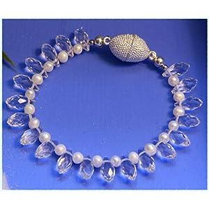 Kristall und Perlen Armband