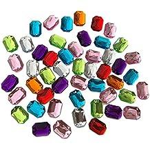 octogonal 25mm grandes multicolor reluciente piedras para coser brillantes piedras para coser (redondas acrílico Piedras gltzer piedras joyas piedras brillantes cristales decorativos para decorar de Crystal King
