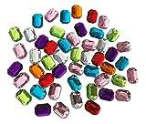 CRYSTAL KING, pietre acriliche colorate, ottagonali, delle dimensioni di 25 mm, da cucire e appendere, per decorazione, strass, gioielli