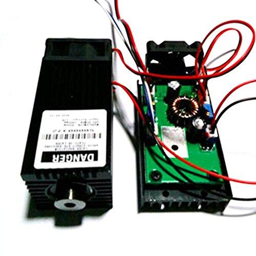 12V TTL High Power 450nm 4W 4000mw djustable lue Laser Dot Module Engraver con disipador de calor