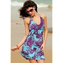 Waooh - Mode - Robe plage multicolore - Violet et turquoise