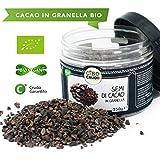 Cibocrudo Semi di Cacao Criollo in Granella Biologici Crudi, Cocoa Nibs Bio - 250Gr - Granella di Fave di Cacao, Raw Organic, 100% Naturale e Puro, del Perù, Etichette in Italiano