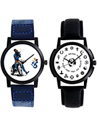 A R Sales Combo Of 2 Analog Watch For Mens And Boys 102-105