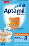 Aptamil latte cereali porridge di grano Miglio Avena - a 8 mesi, 7 pack (7 x 250g)