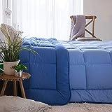 Habita Home EDREDON SINTET. Iceland Azul Marino 350G Cama 150 (250x270cm) Color Azul Claro/Azul Oscuro
