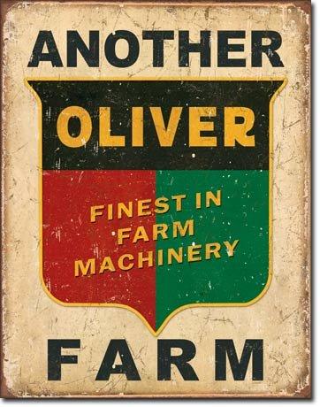 The Finest Website Inc. New Another Oliver Farm Tractor Blechschild, 40,6 x 31,8 cm, verwittertes Aussehen