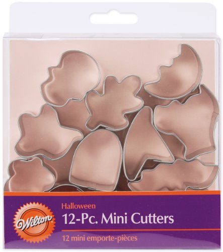 Wilton Mini Metall Cookie Cutter Set 12/pkg-Halloween, andere, Mehrfarbig