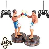 deAO RC Figure di Boxe Set di 2 Robot Pugile 'Colpisce e Abbattere' Combattenti MMA Radiocomandati Bambole Lottatori