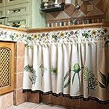 Demi-rideau américain/café/cuisine/porte d'armoire/évier/rideau court,poussière/petit rideau/demi-draperie/1pcs