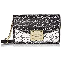 Karl Lagerfeld Paris womens Corinne Convertible Shoulder Bag Crossbody, Black Combo, One Size US