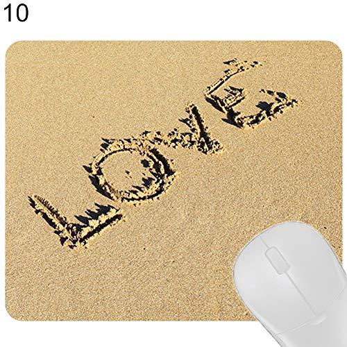 Dandeliondeme Gaming Mauspad Tastatur Pad Pad Pad Lavendel Beach Buchstaben gedruckt wasserabweisend mit Rutschfester Unterseite, spezieller texturierter Glatte Oberfläche, 10