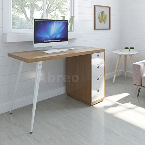 retro-nordic-style-pc-computer-desk-workstation-4-drawers-home-office-furniture-beech-white