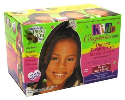 Africa's Best Défrisant Kids Organics Kit cheveux épais/difficiles