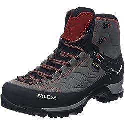Salewa Ms Mtn Trainer Mid Gtx, Herren Trekking- & Wanderstiefel, Grau (Charcoal / Papavero 4720), 47 EU
