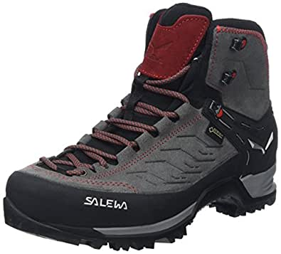 Salewa Men's Mountain Trainer Mid GTX Alpine Trekking Boot, Charcoal/Papavero, 10.5