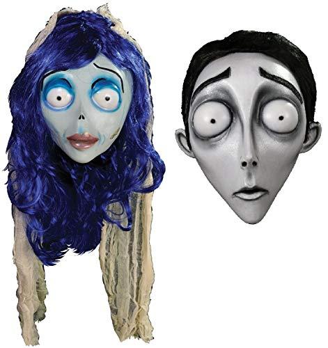 (B-kreative Paare Männer und Damen Cosplay Leiche Braut ausgefallene Kleid-Outfit Masken)