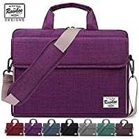 Laptop Bag 15-15.6 inch Rawboe Oxford Fabric Portable Laptop Sleeve Case for Men/Women Messenger Bag for Apple MacBook Pro /Dell /Lenovo /HP Samsung with Shoulder Strap and Multiple Pockets - Purple