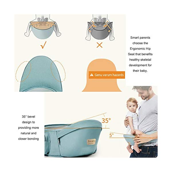 Baby Carrier/Front Carrier One with Hip Seat Egornomic Designed 11 in 1 Hands Free for All Seasons, Easy Breastfeeding, No Infant Insert Needed, Adapt to Growing Baby (Newborn, Infant & Toddler) Gossipboy PREMIUN COTTON MATERIAL. We used top quality 100% pure cotton material, which is soft, smooth, breathable, anti- allergy, anti- depigmentation and anti- pilling. Plus tough buckles, your baby will be comfortably secured in the baby carrier, no worries for falling accidents! LABOR SAVER. The unique shoulder design and thickly padded wide shoulder straps can easily disperse baby's weight. You will feel much easier with this baby carrier because the baby's weight is distributed. The buckles are easy to access and durability tested. ANTI- SLIP HIP SEAT. The hip seat was designed by ergonomics and thickly padded by anti- slip rubber dots surface. It benefits skeletal development for baby. Plus the covered edges around the hip seat, you are worry- free for scratches to your baby's delicate skin. 35° bevel design for more comfortable parenting. 2