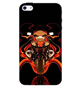 PrintDhaba CONCEPT BIKE D-6567 Back Case Cover for APPLE IPHONE 4 (Multi-Coloured)
