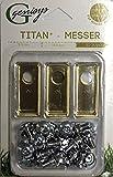 30 Titan Ersatz Messer Klingen f. Honda Miimo 310 520 3000 (LongLife | 0,75mm) NEU + 30 Schrauben