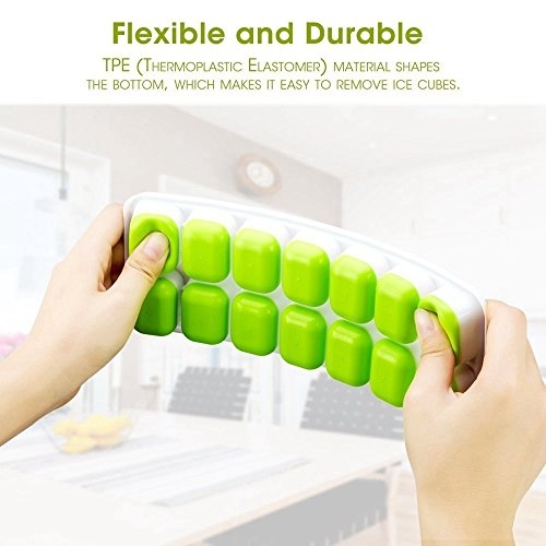 Cubetti di ghiaccio, in silicone, Flexible Ice Cube Molds, FDA food grade Ice Tray stampi stampi, contenitori per sfere di ghiaccio, per cubetti di ghiaccio con coperchio antigoccia