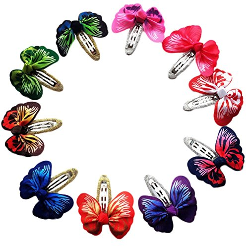 Dosige 3D Butterfly Hair Clips Flower Hair Barrettes for Teens Toddlers Kids Children, 10 Pack
