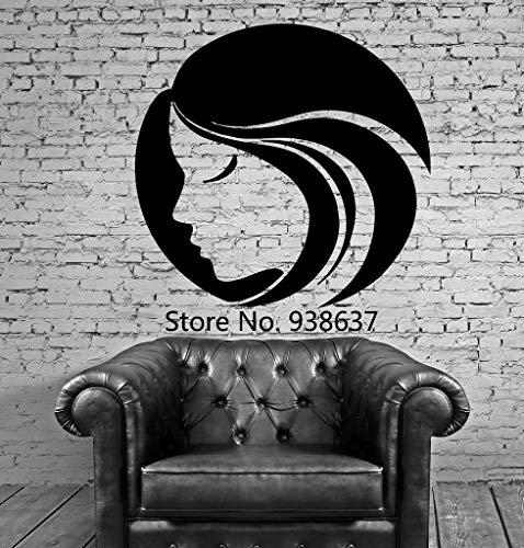Weibliche frau gesicht wand fenster aufkleber hot schöne wandbild wandkunst dekor vinyl aufkleber dekoration für buauty salon z 84x88 cm
