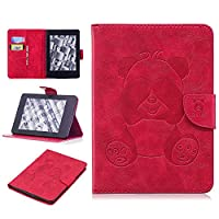 DENDICO Kindle Paperwhite Leather Flip Notebook Style Case e-Book Reader Cover [Stand Function] [Magnetic Closure] [Card Slots] Slim WeightLight Protective Case for Amazon Kindle Paperwhite - Red