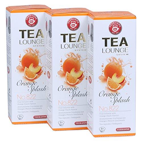 Teekanne Tealounge Kapseln - Orange Splash No. 822 Früchtetee (3x 8 Kapseln)
