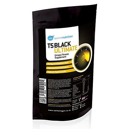 T5 Black Ultimate Hardcore Fat Burner Weight Loss Pills For Men