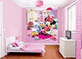 Walltastic Disney Minnie Mouse Wallpaper Mural, Multi-Colour