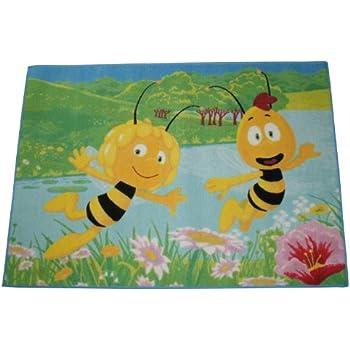 Amazon.de: Biene Maja Biene Maya und Willy am See Kinderteppich ...