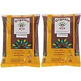 Arya Farm Organic Finger Millet, Whole Ragi ,1 kg - (Pack of 2)