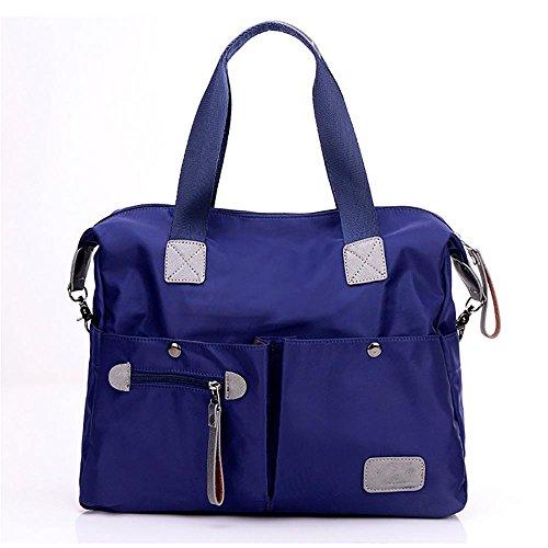 LINGE-Diagonale delle signore di borsa a spalla viaggio inclusa borsa esterna in nylon , black Blue